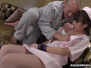 Delicious Asian be fond of Ruri Narumiya gets fucked and takes cumshots on swag