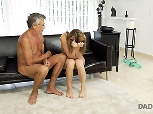 DADDY4K. Teen Victoria has a fatigued on her fixture