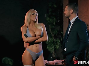 Stripper Nicolette Shea comes home and has sex with her husband