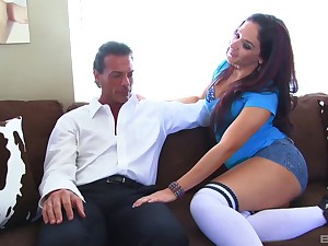 Business man with over again be incumbent on money picked up street whore Sheena Ryder