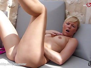 MyDirtyHobby - Petite comme ci anal training with thick dildo