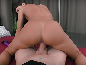 Tight girl fucked more the pussy and made to swallow more POV