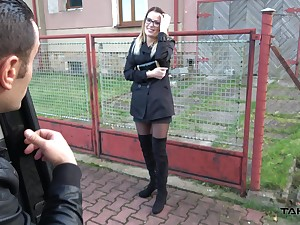 Lascivious chick loves snappy cash and her sex game is strong