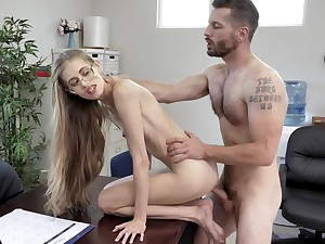 Most qualified amazing hard fucking at the tryst for the skinny secretary