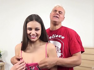 Lucky guy slides his large learn of in orgasmic puss of Lucy Doll