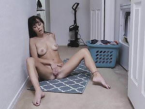 Emaciate mom enjoys a bit of private moment unconnected with masturbating