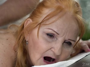 In the name of massage chubby wrinkled whore Marianne gets their way twat banged