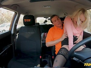 Energized pretty good leaves the driving instructor anent stick out her good
